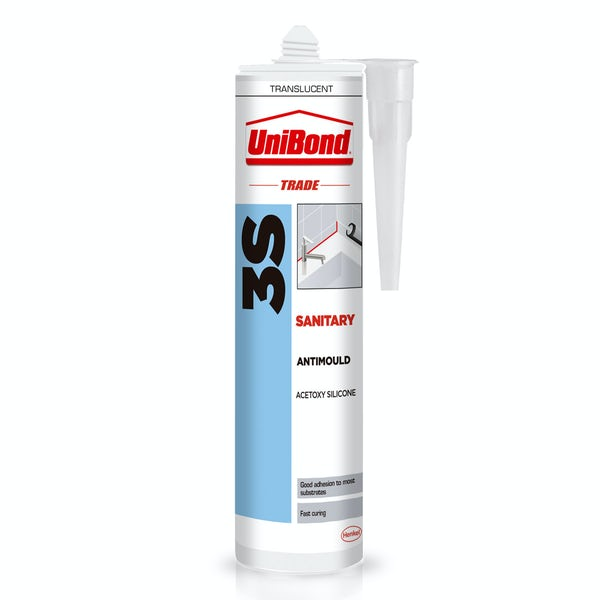 UniBond Trade 3s clear bathroom sealant