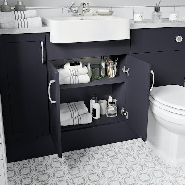 Reeves Newbury indigo floorstanding vanity unit 600mm