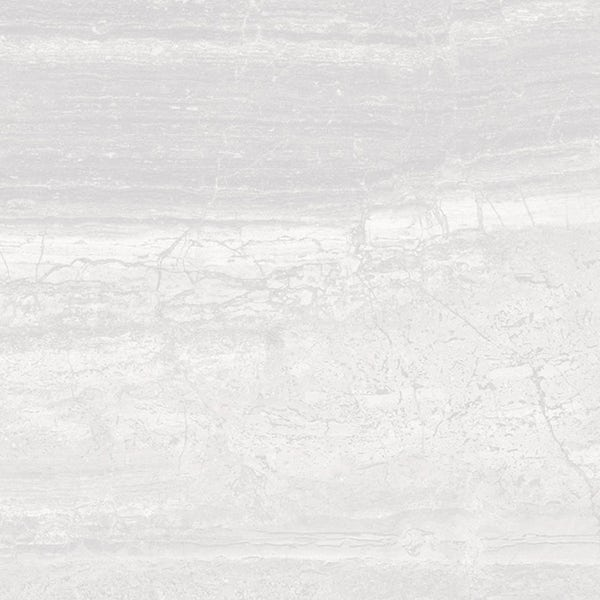 Beau white lappato semi polished stone effect matt wall and floor tile 600mm x 600mm