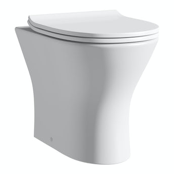 Orchard Derwent round compact back to wall toilet with soft close slim toilet seat
