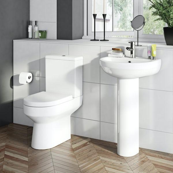 Oakley Close Coupled Toilet inc. Luxury Soft Close Seat
