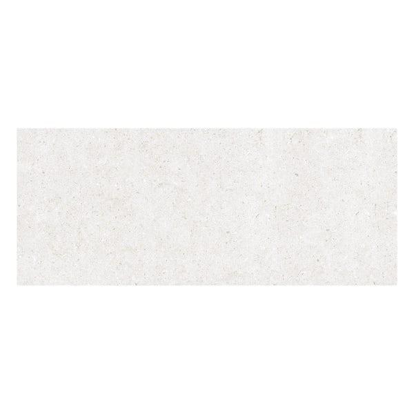 Rocha white flat stone effect gloss wall tile 250mm x 600mm