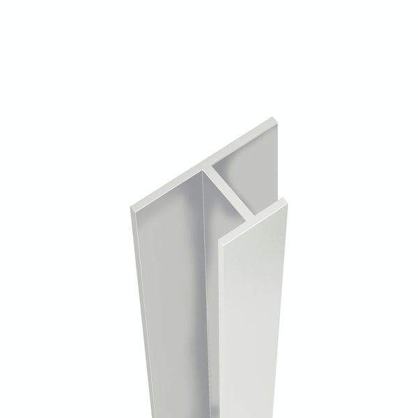 Showerwall Bright Silver mid joint profile for waterproof wall panels