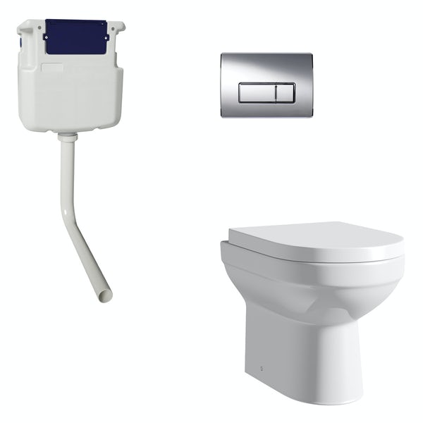 Orchard Balance back to wall toilet with soft close seat, concealed cistern and push plate