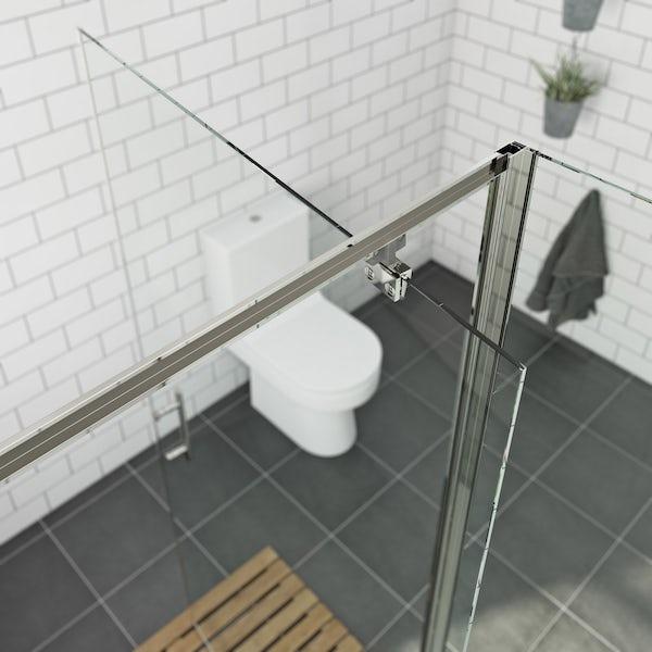 Orchard 6mm pivot hinged rectangular shower enclosure