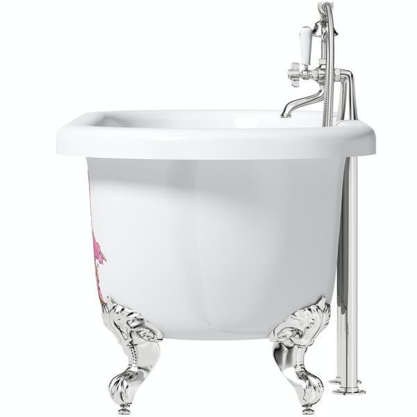 Louise Dear Kiss Kiss Bam Bam traditional freestanding bath and tap pack with bath shower mixer