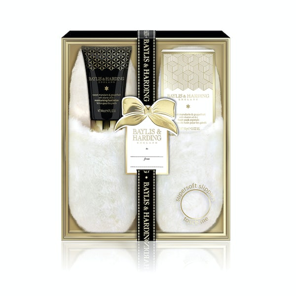 Baylis & Harding Sweet mandarin and grapefruit boxed slipper set