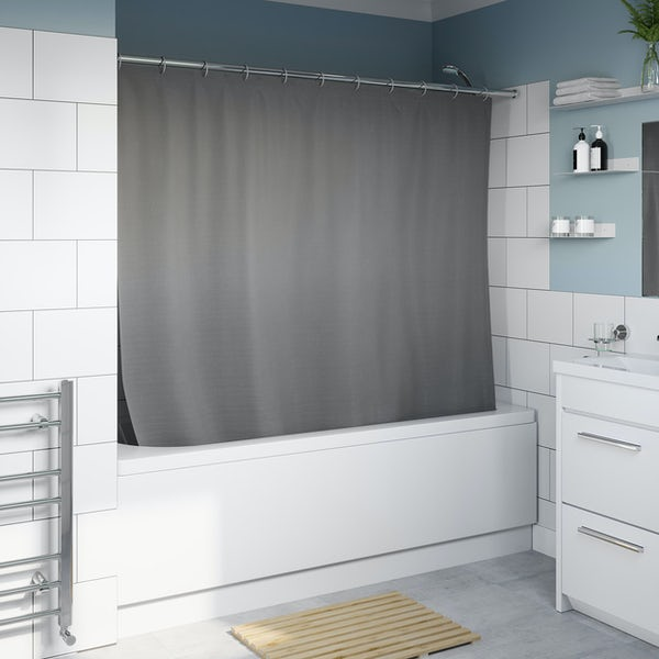 Accents black shower curtain