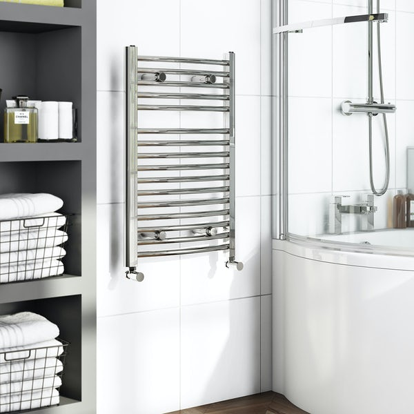 Orchard Elsdon curved heated towel rail 750 x 450