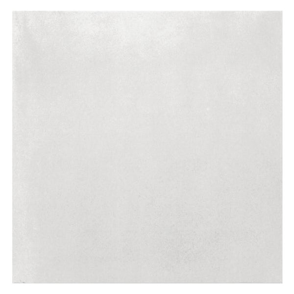 Granby white flat stone effect matt wall and floor tile 457mm x 457mm