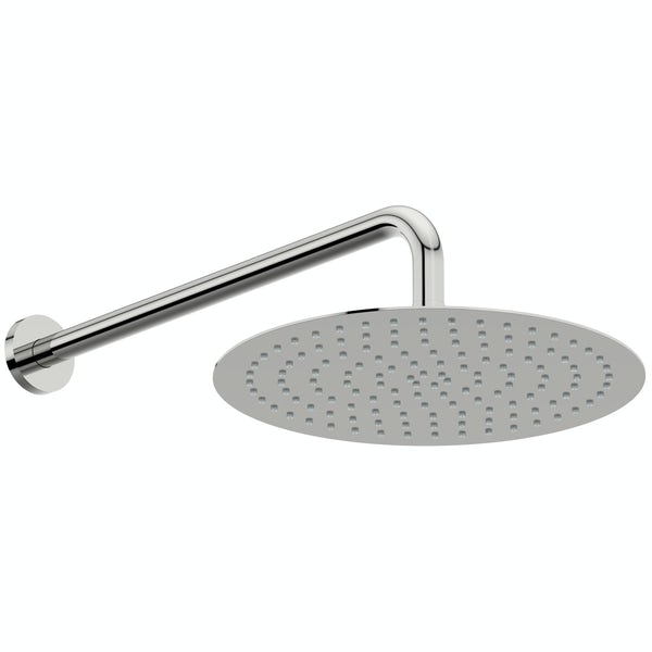 Mode Slim round stainless steel 300mm shower head and wall arm