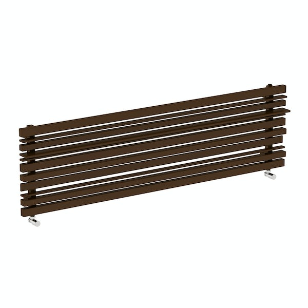Sherwood terra brown horizontal radiator 440 x 1600