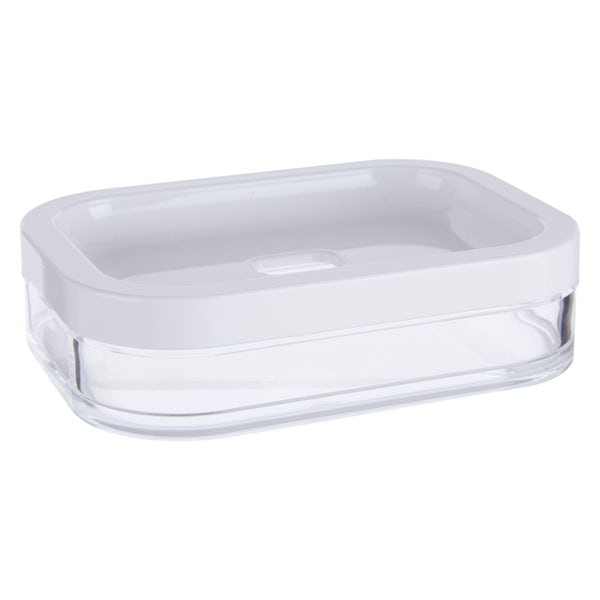 Accents White acrylic soap dish