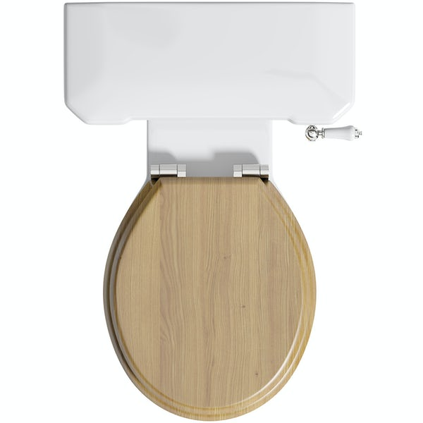 The Bath Co. Camberley close coupled toilet with MDF soft close toilet seat