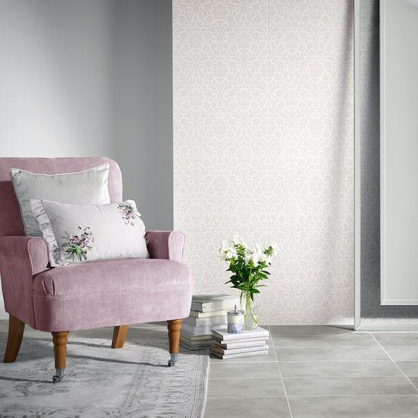 Laura Ashley Annecy dove grey matt wall and floor tile 298mm x 498mm