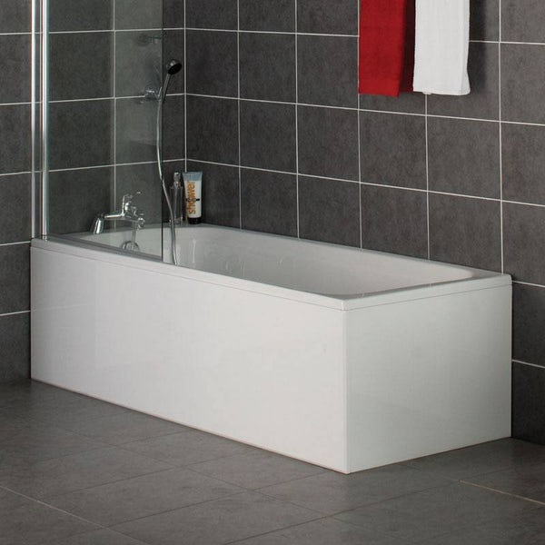 Orchard White wooden straight bath front panel 1800mm