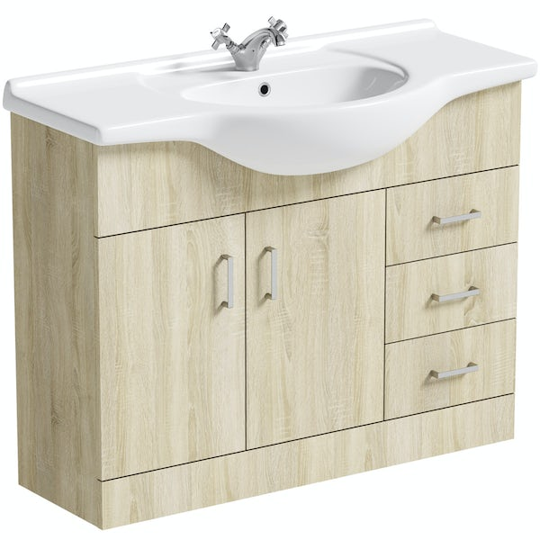 Orchard Eden oak vanity unit and basin 1050mm