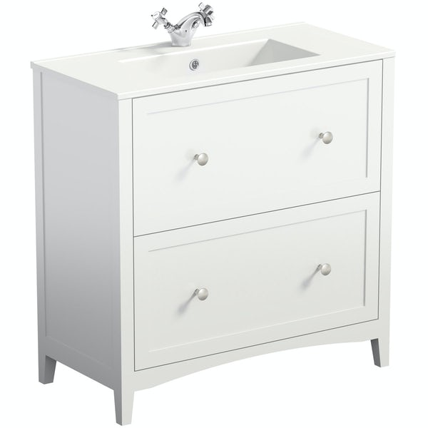 The Bath Co. Camberley white vanity unit with basin 800mm