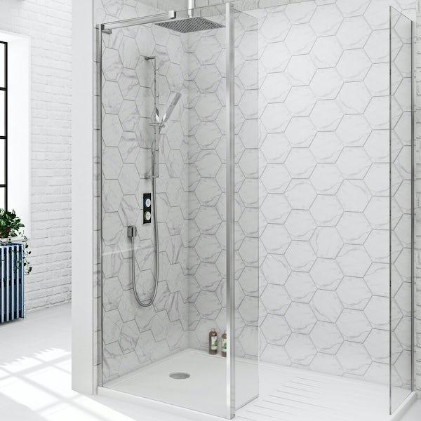 SmarTap black smart shower system with Mode 8mm walk in enclosure pack