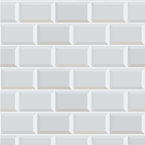 Graham & Brown Contour metro white brick wallpaper