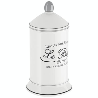 Accents Le bain white traditional storage jar