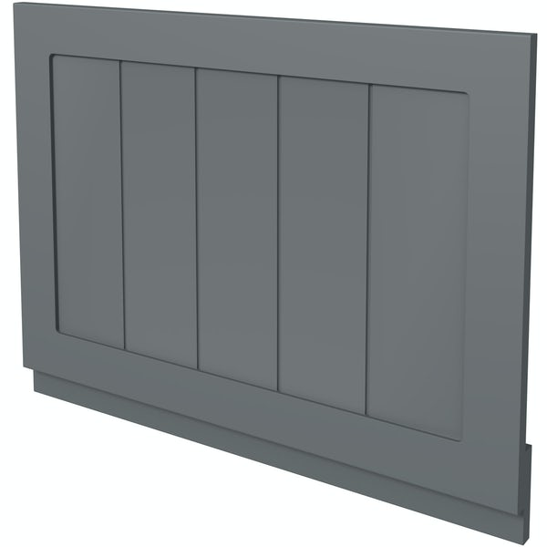 The Bath Co. Dulwich stone grey wooden bath end panel 700mm