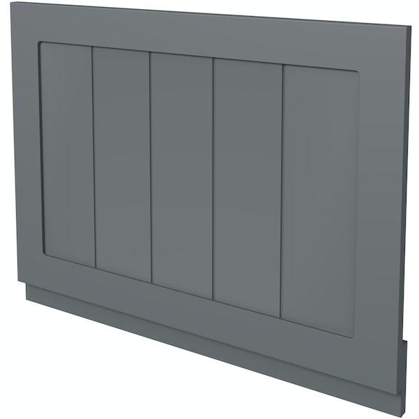 The Bath Co. Dulwich stone grey wooden bath end panel 700mm