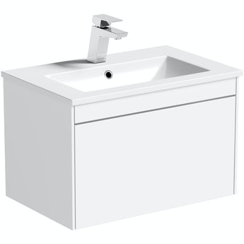 Mode Austin white wall hung vanity unit and resin basin 600mm