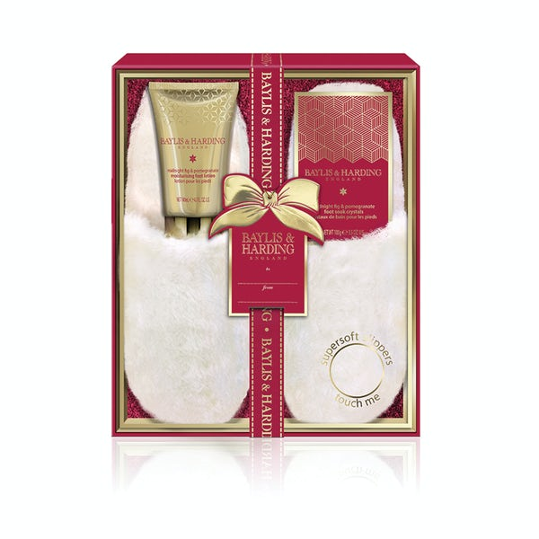 Baylis & Harding Midnight fig and pomegranate boxed slipper set