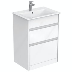 Main image for Ideal Standard Concept Air gloss and matt white vanity unit and basin 600mm