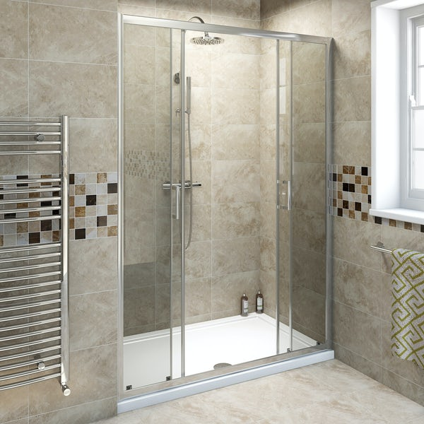 6mm Double Sliding Shower Door 1400mm Victoriaplum Com