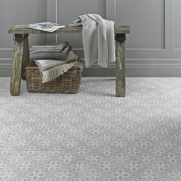 Laura Ashley Floor Tiles >> Laura Ashley Heritage Mr Jones dove grey matt tile 331mm x