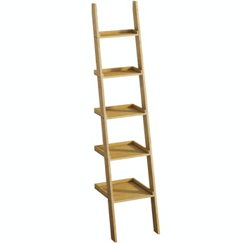 Mode South Bank natural wood ladder shelf 2050 x 500mm