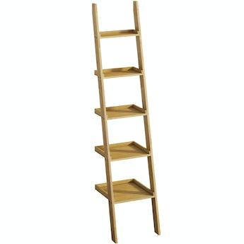 Mode South Bank natural wood ladder shelf 2050 x 500mm