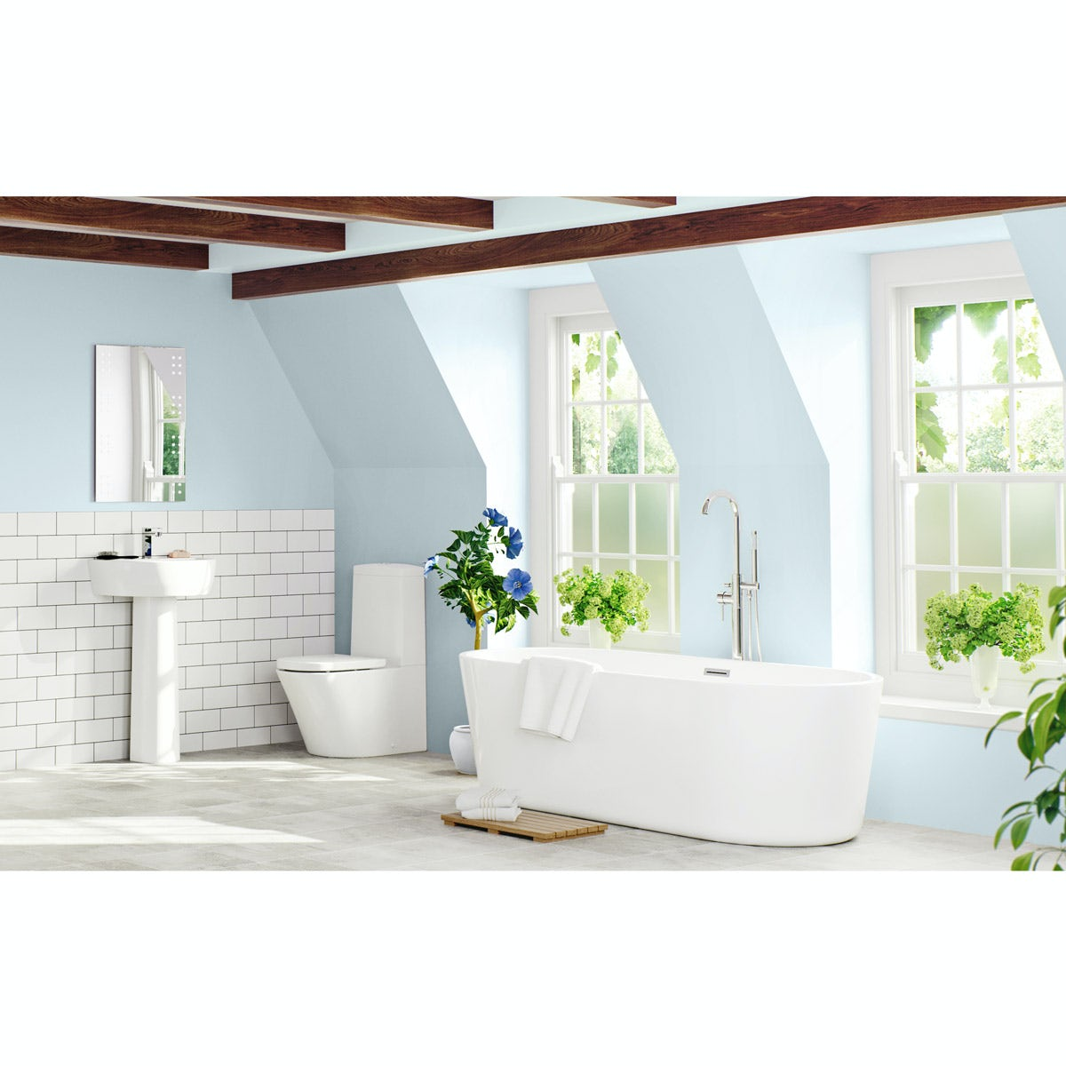 Superbe Mode Tate Luxury Bathroom Suite With Freestanding Bath