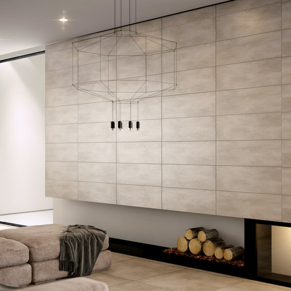Maxima soft grey tile 310mm x 620mm