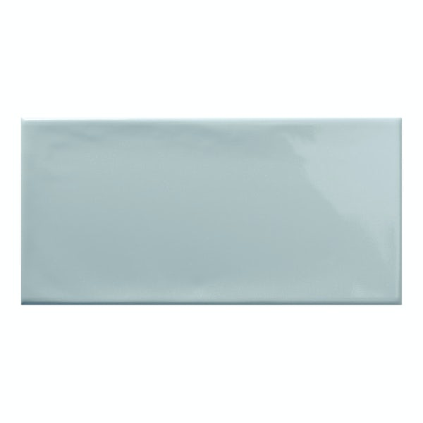 Annecy sky blue gloss wall tile 75mm x 150mm