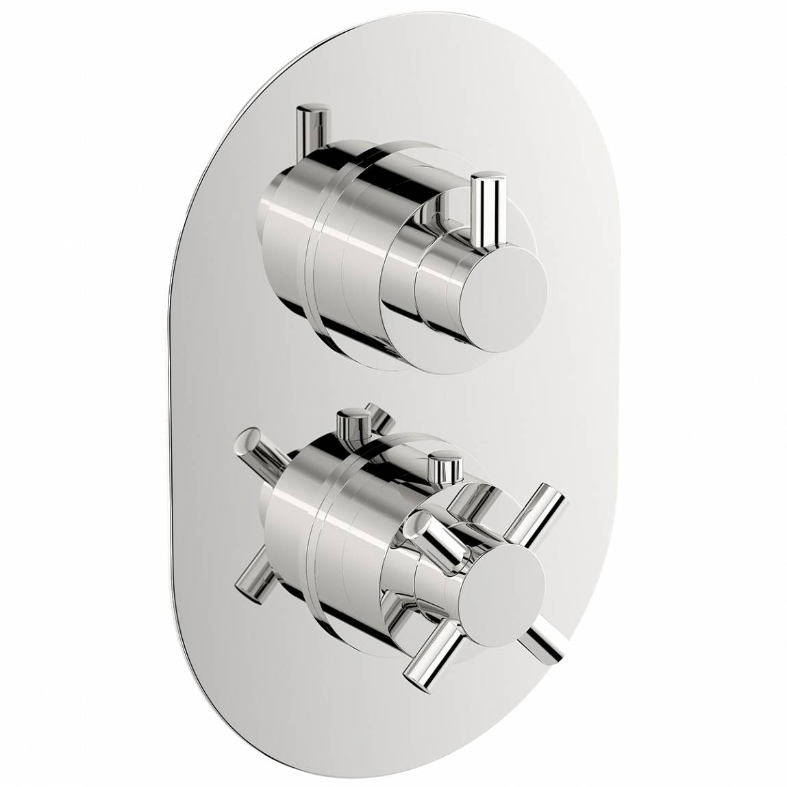 Mode Tate oval twin thermostatic shower valve with diverter