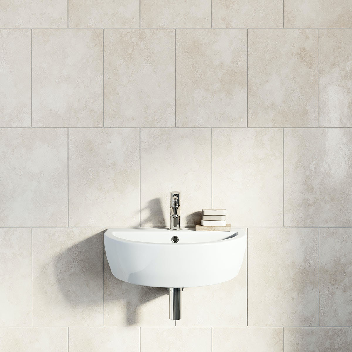 British Ceramic Tile Earth stone beige gloss tile 300mm x 416mm