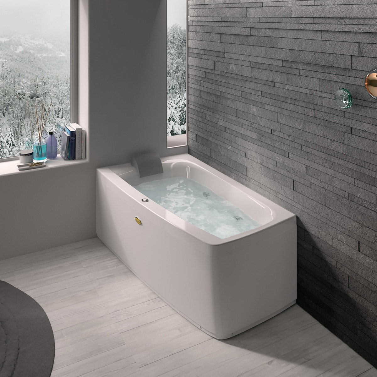 Jacuzzi the Essentials left handed compact offset corner whirlpool bath