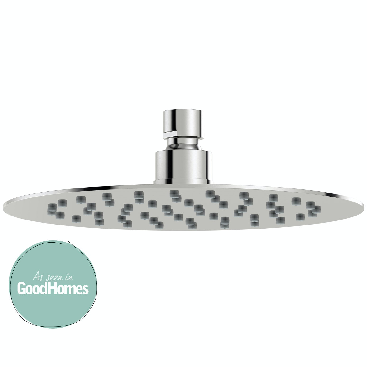 Mode Renzo round slim stainless steel shower head 200mm