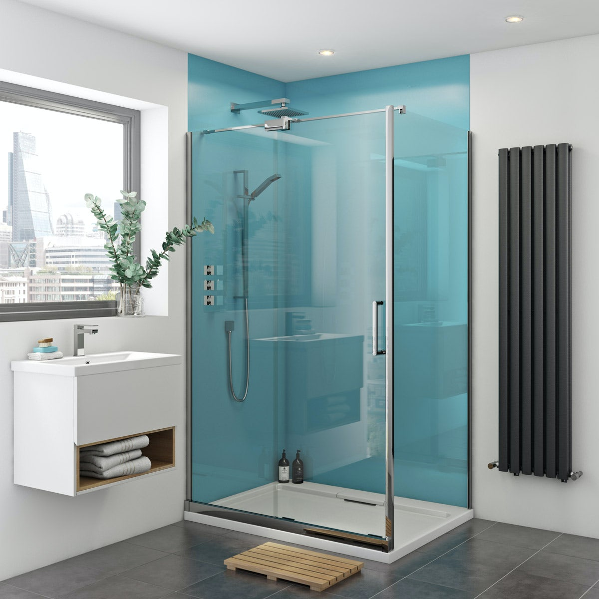 zenolite plus water acrylic shower wall panel 2440 x 1000. Black Bedroom Furniture Sets. Home Design Ideas
