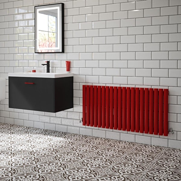 The Tap Factory Vibrance red vertical panel radiator