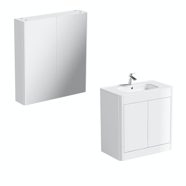 Carter Ice White 800 vanity unit and mirror offer