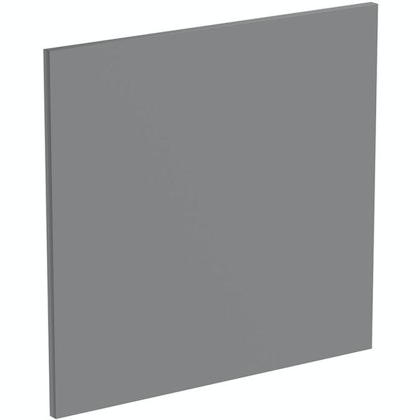 Schon Boston mid grey 600mm semi integrated dishwasher fascia