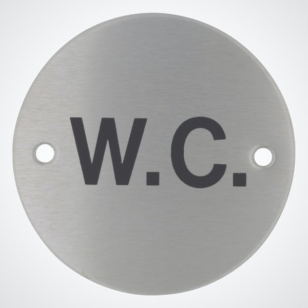 Dolphin pictograph WC toilet sign round