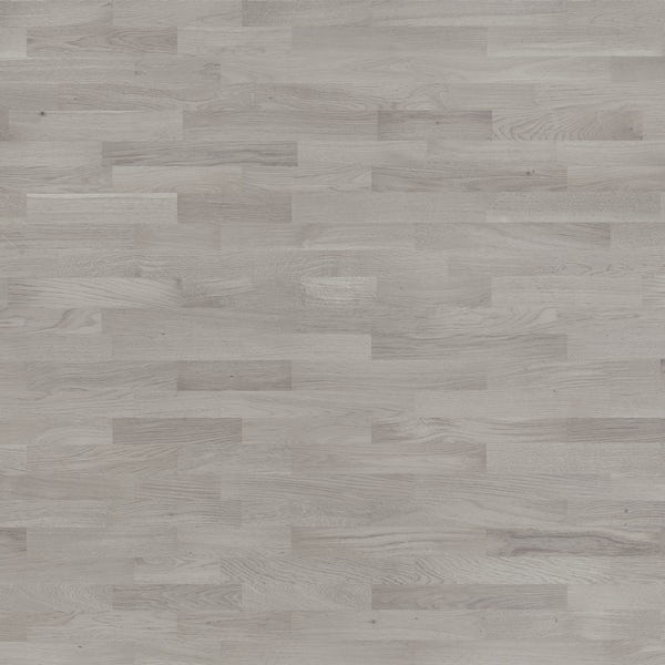 Basix Grey Oak engineered matt UV lacquered click wood flooring