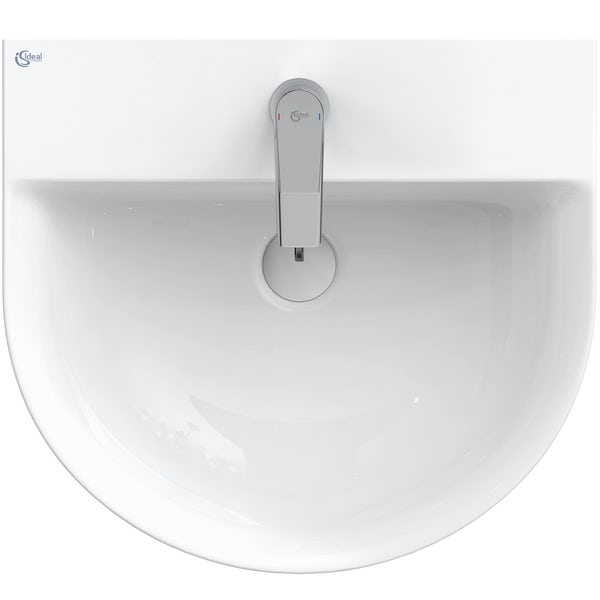 Ideal Standard Concept Air Arc 1 tap hole wall hung basin 500mm