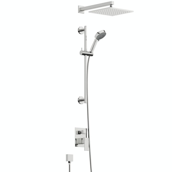 Orchard Square concealed manual mixer shower with 400mm wall arm and slider rail