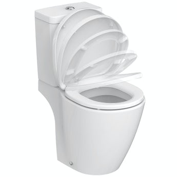 Ideal Standard Concept Space compact close coupled toilet with soft close seat